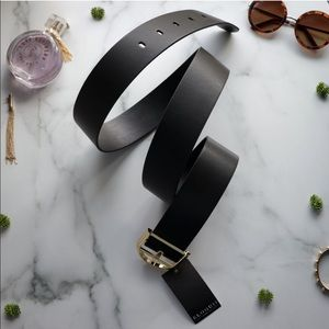 ELOQUII Belt Black Gold NEW Faux Leather